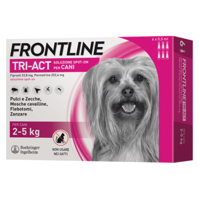 FRONTLINE TRI-ACT cane 2-5 Kg 3pipette